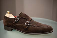 double booucle brown suede