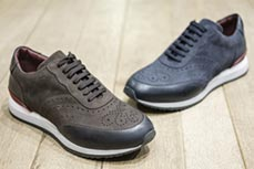 Suede leather Brogue sneakers
